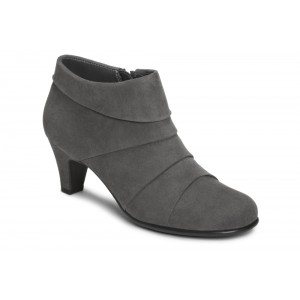 Aerosoles Play Pleat Grey Fabric at AskTheShoeLady.com