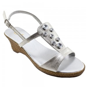 Annie Bejeweled Silver at AskTheShoeLady.com