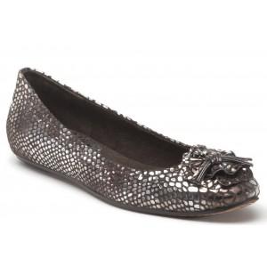 Antia Abella Mocha Metallic Snake at DesignerShoes.com