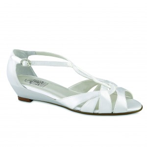Special Occasions Shannon White Satin at DesignerShoes.com