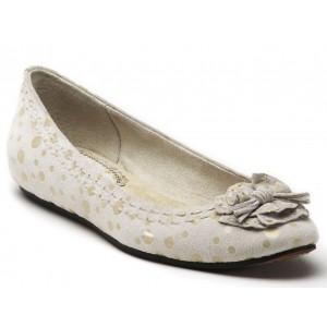 Antia Abella Bone Polka Dot Suede at DesignerShoes.com