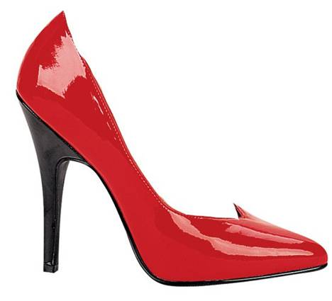 Ellie Brande Red W Black at DesignerShoes.com