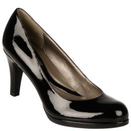 Naturalizer Lennox Black Shiny at DesignerShoes.com
