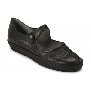 Aerosoles Baltic Sea Black Leather at DesignerShoes.com