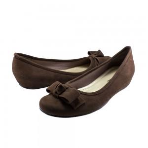 Annie Gable Brown Velvet Suede at DesignerShoes.com