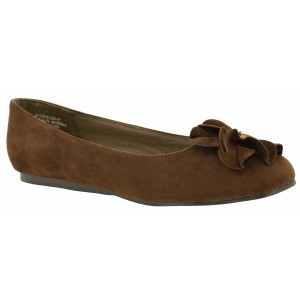 Annie Geneva Brown Velvet Suede at DesignerShoes.com
