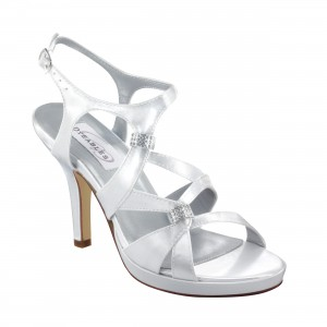Dyeables Claire White Satin at DesignerShoes.com
