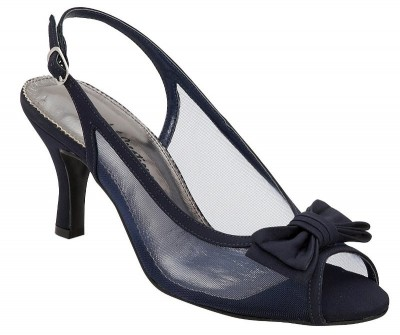 Debra navy slingback by Colorful Creations