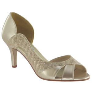 This peep toe D'Orsay style pump will give you some extra space for long toes.